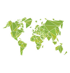 World map made by polygonal shapes vector