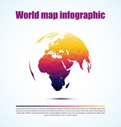 World triangular Map and typography eps 10 vector image