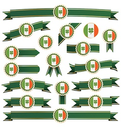 Ireland ribbons vector
