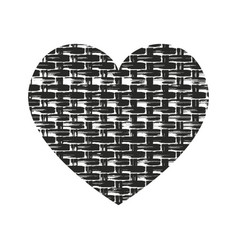 Grunge heart silhouette vector