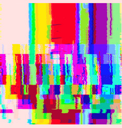 Colorful glitch warp background vector
