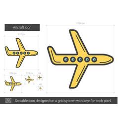 Aircraft line icon vector