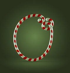 Candy cane abc o vector
