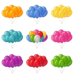 Balloons bunches set vector image