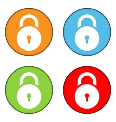 Lock symbol buttons set vector