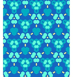 Blue cyan yellow abstract geometric seamless vector