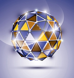 Abstract 3d vivid gala sphere with gemstone effect vector