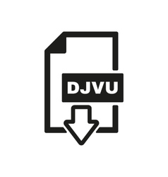 The djvu icon file format symbol flat vector