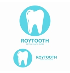 Dental clinic logo tooth icon vector
