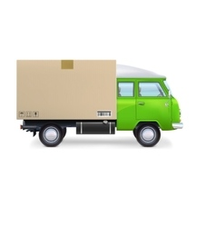 Delivery van isolated on white vector
