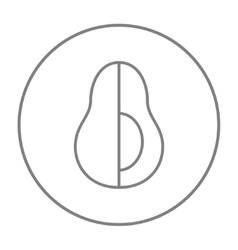 Avocado line icon vector