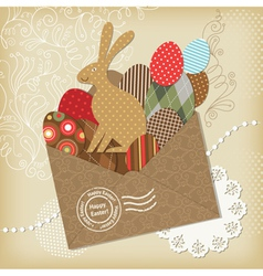 Easter scrapbooking elements vector