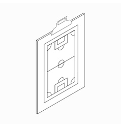 Clipboard with soccer tactic icon vector