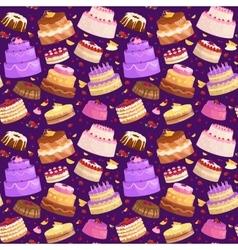 Cake icon set birthday food sweet dessert vector