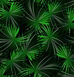 Tropical cabbage palm in a seamless pattern vector