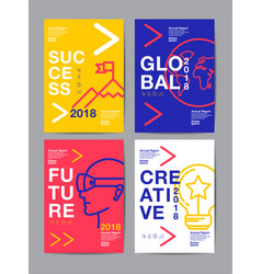 annual report 201820192020 future business vector image vector image