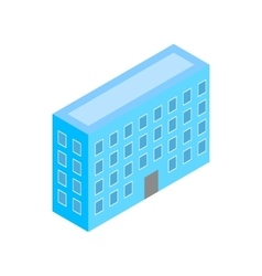 Building icon isometric 3d style vector