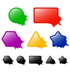 Buttons or banners with blots vector image vector image