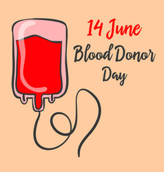 Celebration world blood donor day doodle vector