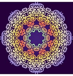 Delicate swirl mandala pattern background vintage vector