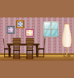 Dining room vector