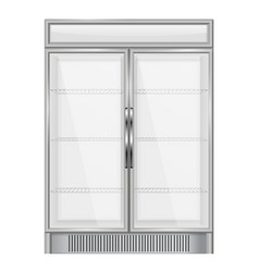 display refrigerator vector image