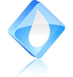 Droplet button vector
