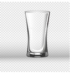 Empty drinking glass isolated on transparent vector