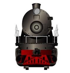 Front view of a old steam locomotive vector image