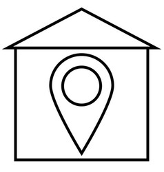 General home home position house icon vector