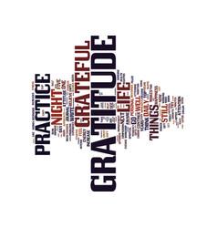 Gratitude improves your attitude text background vector