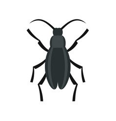 gray beetle icon flat style vector image vector image