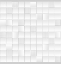 Grey white minimal tech squares pattern vector