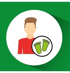 Man symbol environment eco footprint icon design vector