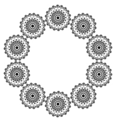 Ornamental round lace pattern Abstract ornament vector image
