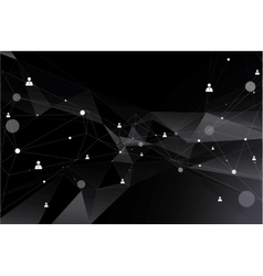 Particles and human connection vector