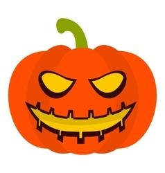 Pumpkin lantern icon flat style vector image