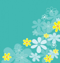 retro flower texture vector image vector image