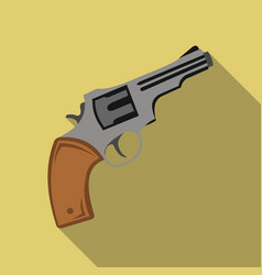 Revolver icon flate singe western icon from the vector