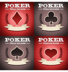 Set of poker backgrounds vector