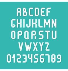 Simple colorful font Complete abc alphabet set vector image