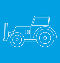 Skid steer loader icon outline vector