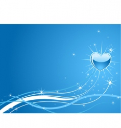 sparkle blue background vector image vector image