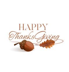 Thanksgiving lettering design vector