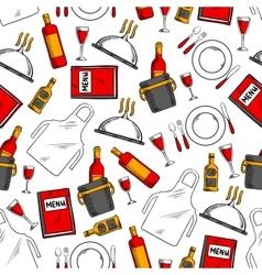 Restaurant service seamless pattern background vector
