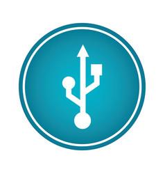 usb arrow symbol icon vector image