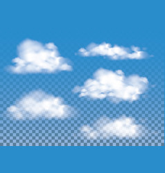 Fog  smoke and cloud isolated transparent special vector