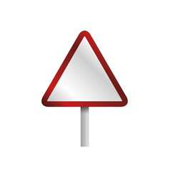 caution sign blank vector image