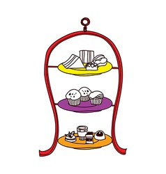 A display table vector image