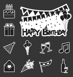 Happy birthday set vector